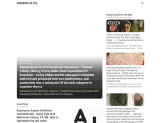 ahsdaylilies.blogspot.com screenshot