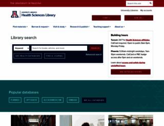 ahsl.arizona.edu screenshot