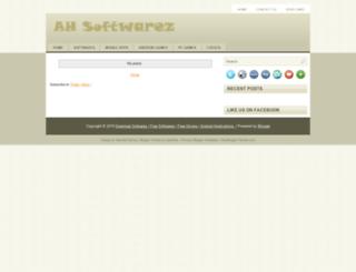 ahsoftwarez.blogspot.com screenshot