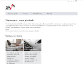 ahv.ch screenshot