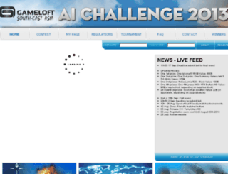 ai-contest2013.gameloft.com screenshot