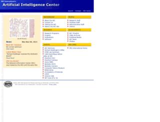 ai.sri.com screenshot