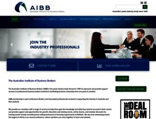 aibb.org.au screenshot