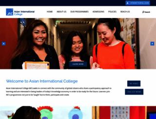 aic.edu.sg screenshot