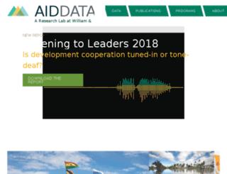 aiddata.wm.edu screenshot