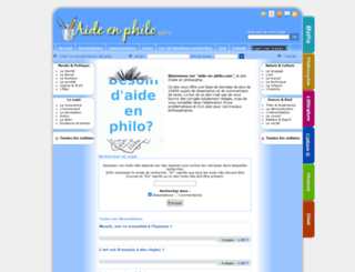 aide-en-philo.com screenshot