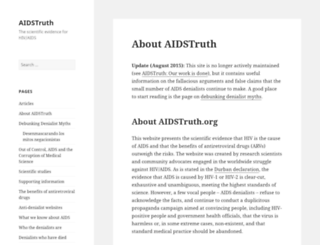 aidstruth.org screenshot