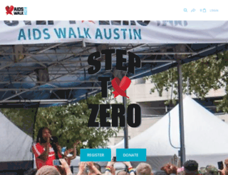 aidswalkaustin.org screenshot