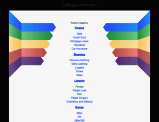 aieee.collegecutoff.com screenshot