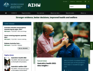 aihw.gov.au screenshot