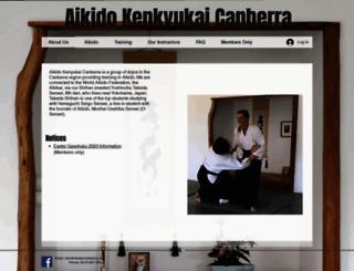 aikidocanberra.com screenshot
