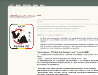 aikidogrez.be screenshot