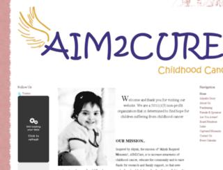aim2cure.squarespace.com screenshot