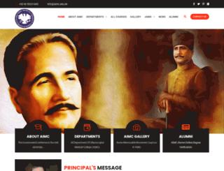 aimc.edu.pk screenshot