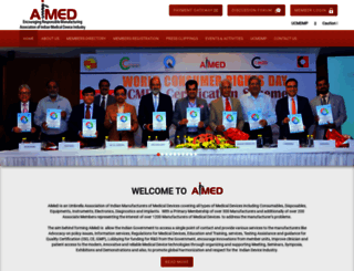 aimedindia.com screenshot