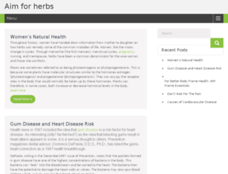 aimforherbs.com screenshot