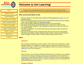 aimlearning.co.uk screenshot