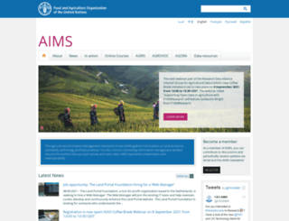 aims.fao.org screenshot