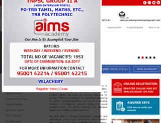 aimscompetitiveacademy.com screenshot