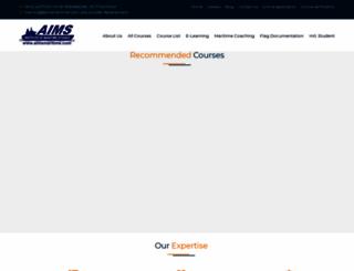 aimsmaritime.com screenshot