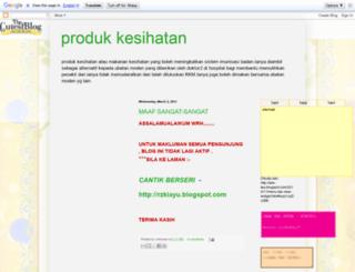 ainprodukkesihatan.blogspot.com screenshot