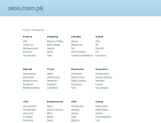 aiou.com.pk screenshot