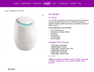 air-purifier.co.za screenshot