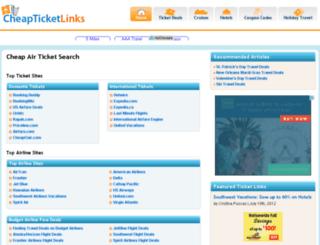 air.cheapticketlinks.org screenshot
