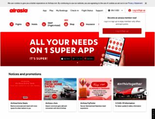 airasia.com screenshot