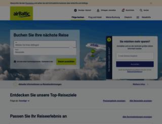 airbaltic.de screenshot