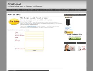 airbath.co.uk screenshot