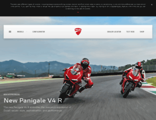 airbike.ducati.com screenshot