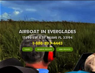 airboatineverglades.com screenshot