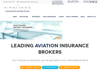 airborneinsurance.co.za screenshot