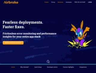 airbrakeapp.com screenshot