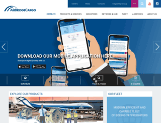 airbridgecargo.com screenshot