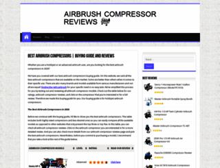 airbrushcompressorreviews.net screenshot