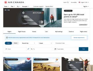 aircanada.ca screenshot