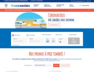aircaraibes.com screenshot