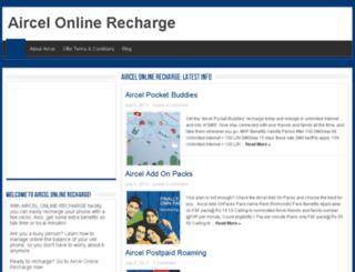 aircelonlinerecharge.net screenshot