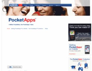 aircelpocketapps.com screenshot