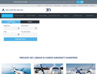 airchartermideast.ae screenshot