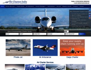 airchartersindia.net screenshot