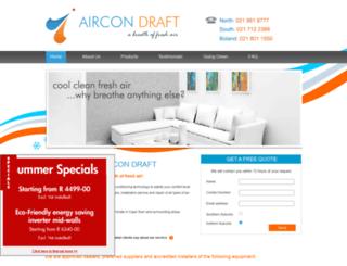 aircondraft.co.za screenshot