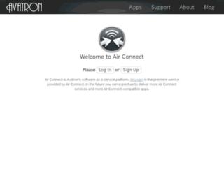 airconnect.avatron.com screenshot