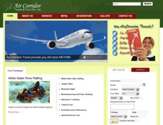aircorridortravels.com screenshot