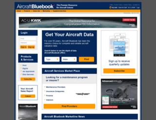 aircraftbluebook.com screenshot