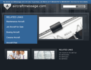 aircraftmessage.com screenshot