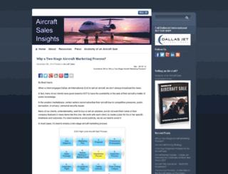 aircraftsalesinsights.com screenshot