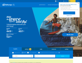 aireuropa.es screenshot